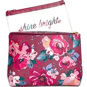 Macys Floral 2 Pc Toiletry Makeup Bag Set